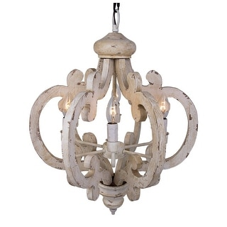 Parrot uncle distressed antique white wood 6 light chandelier free parrot uncle distressed antique white wood 6 light chandelier free shipping today overstock 25307377 aloadofball