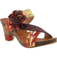 L'Artiste by Spring Step Women's Myah Slide Gold Leather