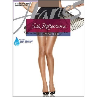 Hanes Silk Reflections Reinforced Toe Pantyhose - Size - AB - Color - Town Taupe