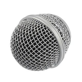Unique Bargains Unique Bargains Silver Tone Mesh Microphone Mic Grille Ball Head Replacement