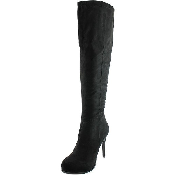2 Lips Too Too Lifted Women Pointed Toe Synthetic Over the Knee Boot
