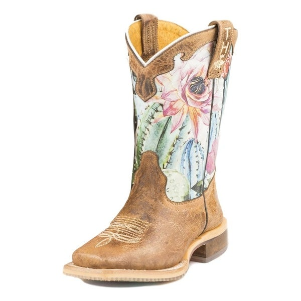 fb409c42f73 Shop Tin Haul Western Boots Girls Cactus Brown - 2 Child - Free ...