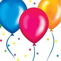 18 Count Beverage Napkins Birthday Balloons - Multi