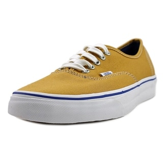 Vans Authentic  Men  Round Toe Canvas Gold Sneakers