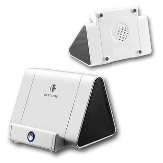 Indigi® Universal Magic Induction Boost Wireless Mini Speaker Stand - 750mAh - Matte White