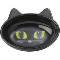 Black - Petrageous Frisky Kitty Oval Saucer 5.3Oz