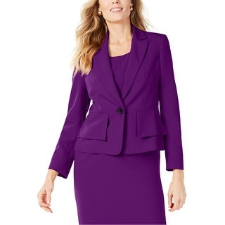 Link to Kasper Womens Crepe One Button Blazer Jacket, purple, 8 Similar Items in Suits & Suit Separates