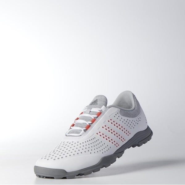 New Adidas Women's Adipure Sport Lt. Grey/Coral/Dk. Silver Golf Shoes Q44739