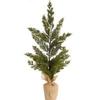 "Pack of 4 Decorative Green Indoor Table Top Unlit Artificial Mini Pine Tree 23""H"