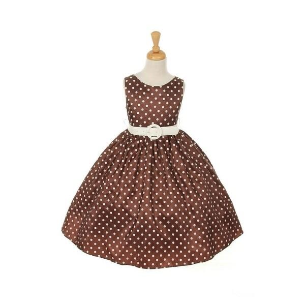 Shop Cinderella Couture Little Girls Brown White Polka Dot