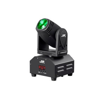 Monoprice 10W Mini Beam Moving Head  RGBW 4-in-1 LED Party Light  Stage Right