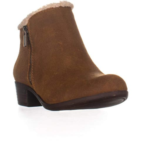 Lucky Brand Womens Basel Sher Leather Almond Toe Ankle Fashion Boots