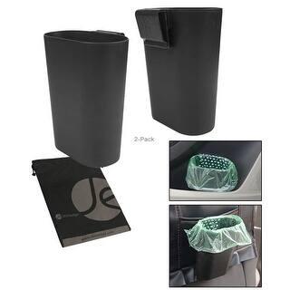 JAVOedge (2 PACK) Car Side Door Panel Clip on Storage / Trash Holder (7 in x 6 in x 3 in) with Bonus Drawstring Bag - Black https://ak1.ostkcdn.com/images/products/is/images/direct/c0a92bd4f4d24ad83baeab4f5051f4c7c8d7d803/JAVOedge-%282-PACK%29-Car-Side-Door-Panel-Clip-on-Storage---Trash-Holder-%287-in-x-6-in-x-3-in%29-with-Bonus-Drawstring-Bag.jpg?impolicy=medium