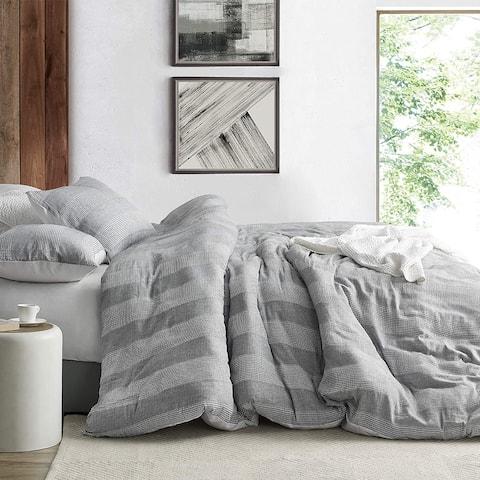 Waffled Gray - Oversized Duvet Cover