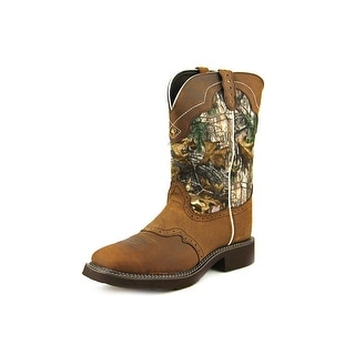 Justin Boots L9609   Pointed Toe Canvas  Western Boot