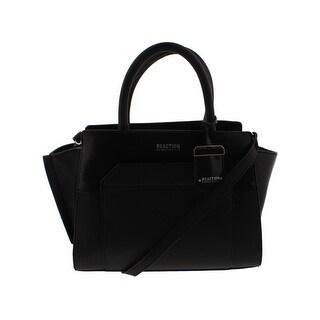 Kenneth Cole Reaction Womens Amie Satchel Handbag Faux Leather Convertible - MEDIUM