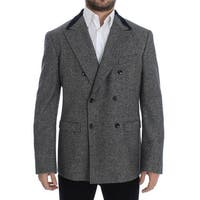 Dolce & Gabbana Gray wool double breasted blazer - it48-m