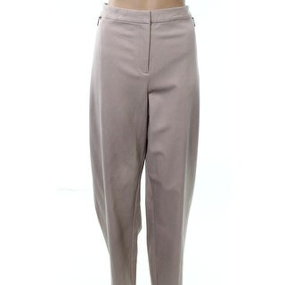 Alfani Beige Womens Size 24W Plus Slim-Fit Dress Pants Stretch