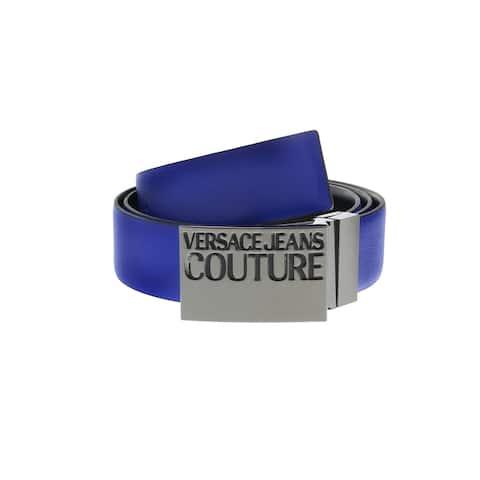 Versace Jeans Couture Blue/Black Adjustable/Reversable Mens Ratchet Belt