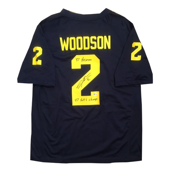 low priced 56745 bbcdc Shop Charles Woodson Autographed Michigan Wolverines ...