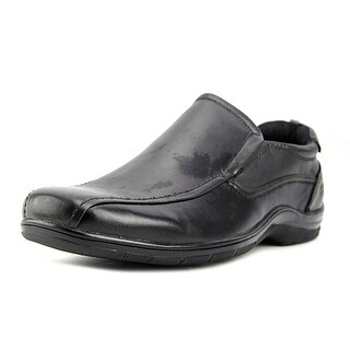 Kenneth Cole Reaction National Team Men Round Toe Leather Black Loafer