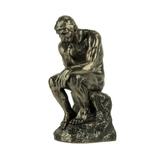 Rodin's The Thinker Inspired Decorative Statue - 7.75 X 4.75 X 3.25 inches