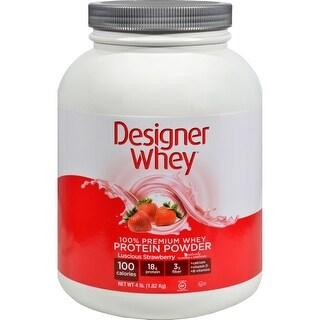 Designer Whey Protein - Strawberry - 4.4 Lb Bodybuilding Energy Shake