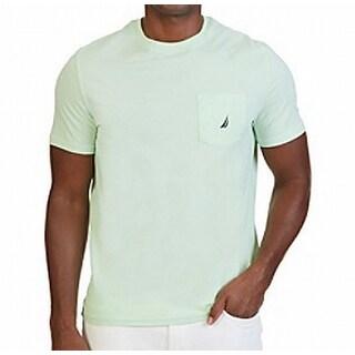 Nautica NEW Light Green Mens Size Small S Crewneck Slim-Fit Tee T-Shirt 262