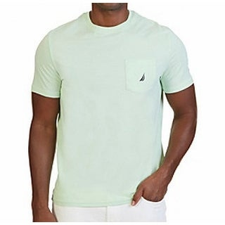 Nautica NEW Patina Green Mens Size 2XL Crewneck Logo-Print Tee T-Shirt 038