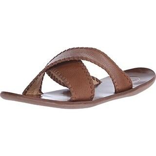 Jack Rogers Mens Kane Leather Slide Sandals - 10 medium (d)