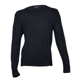 INC International Concepts Men's Tonal Stripe Sweater (Deep Black, M) - Deep Black - M