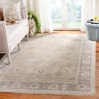 Safavieh Couture Hand-knotted Oushak Folke Traditional Oriental Wool Rug with Fringe