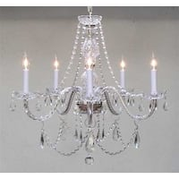 Swarovski Crystal Trimmed Chandelier! Chandeliers Lighting - Clear