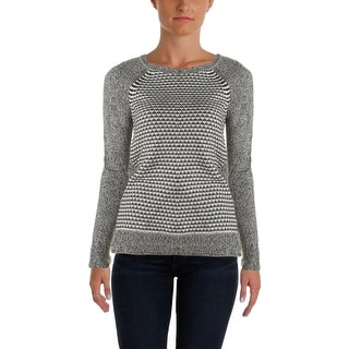 Two by Vince Camuto Womens Marled Colorblock Pullover Sweater