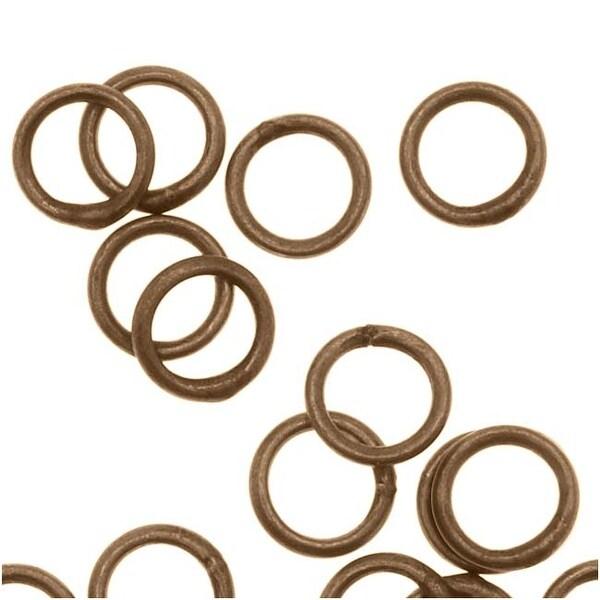 Antiqued Brass Closed Jump Rings 4mm 22 Gauge (20)