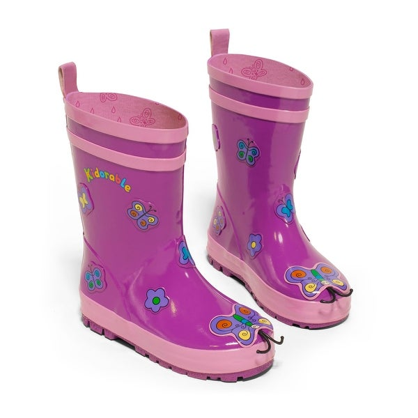 Kidorable Butterfly Rain Boot - Purple