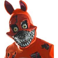 Five Nights At Freddy's Nightmare Foxy Costume Mask - Red
