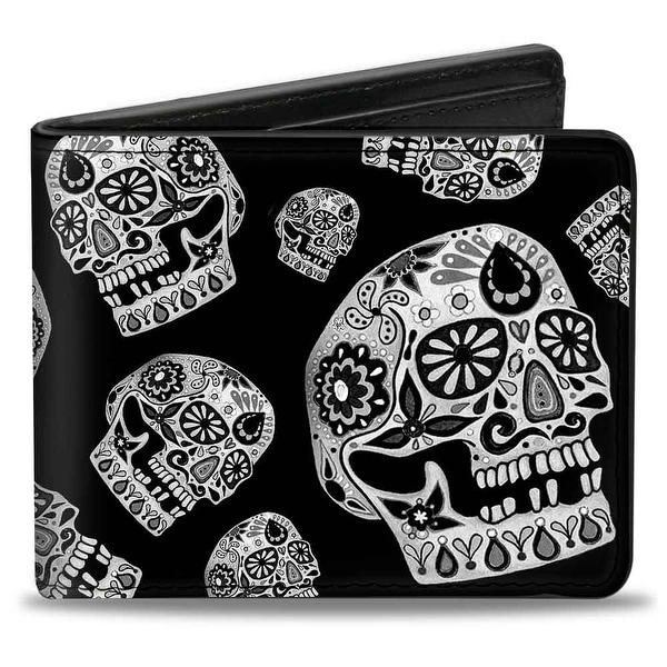 The Dust Of Living Ii Sugar Skulls Black White Bi Fold Wallet - One Size Fits most