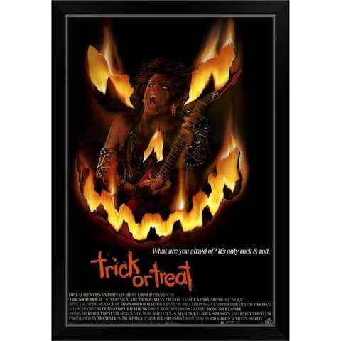 """""""Trick or Treat (1986)"""" Black Framed Print"""