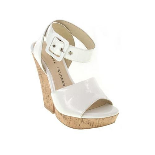 Chinese Laundry Womens Go For It Wedge Sandals - White