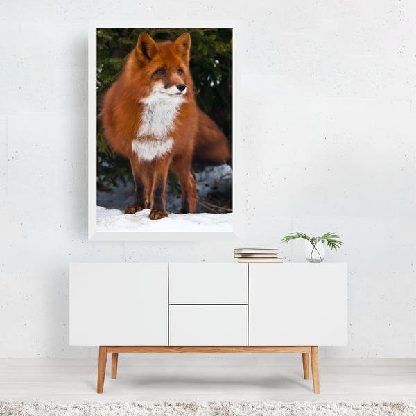 8x12 FT Fox Vinyl Photography Backdrop,Cute Fox Swimming in Blue River Natural Life Mammal Wild Animal Image Print Background for Baby Shower Bridal Wedding Studio Photography Pictures