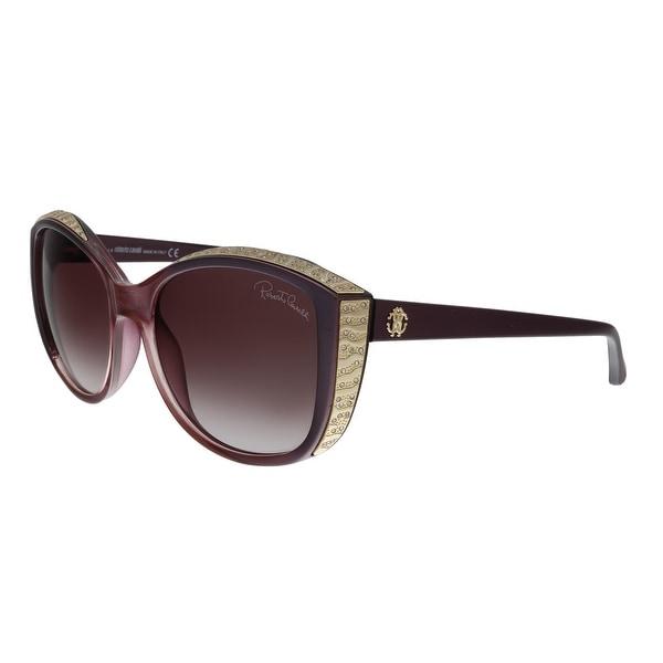Roberto Cavalli RC1015 83Z Yed Purple Cat Eye Sunglasses - No Size. Opens flyout.