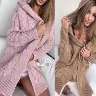 Link to Women's Soft Chunky Knit Sweater Open Front Cardigan Outwear Similar Items in Women's Sweaters