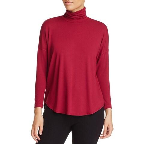 Eileen Fisher Womens Turtleneck Top Jersey Dressy