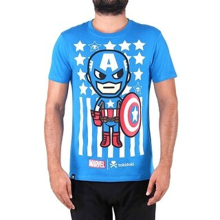 Tokidoki Marvel Captain America Mens Blue T-Shirt Tee