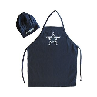 Dallas Cowboys Sports Team Logo Apron and Chef Hat