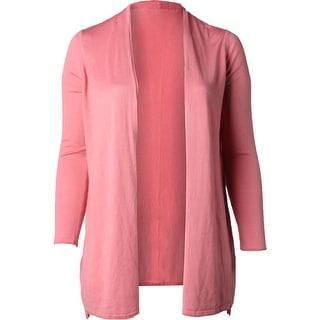 Lauren Ralph Lauren Womens Cardigan Top Silk Blend Open Front