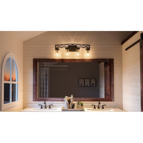 Luxury Mediterranean Bathroom Vanity Light 11 5 H X 33 5 W With Art Deco Style Olde Bronze Finish By Urban Ambiance On Sale Overstock 28670722