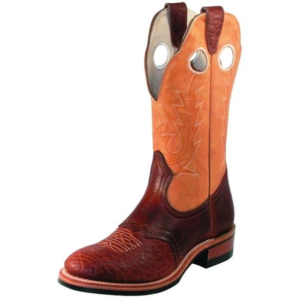 Boulet Western Boots Womens Cowboy Bullhide Cognac Butterscotch