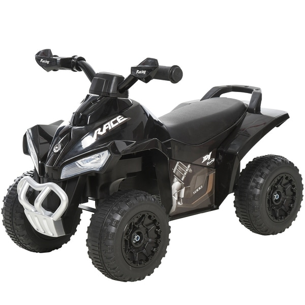 Aosom Ride-On 4 Wheeler/ATV Toy for Children with Super Cool Design, Real Steering Wheel, & 3 Piece of Music. Opens flyout.